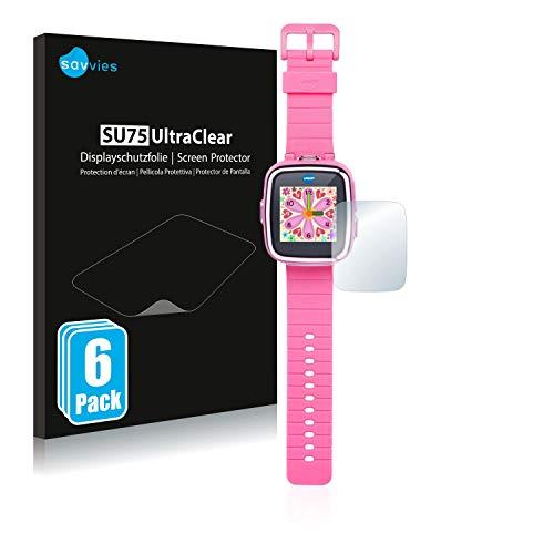 savvies Protector Pantalla Compatible con Vtech Kidizoom Smart Watch DX (6 Unidades) Pelicula Ultra Transparente