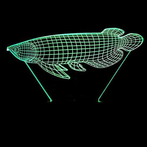 3D Slideshowyimia 3D veranderen, 7 goudkleurig, visheye stereo acryl usb nachtlampje boy room bureau hoofdeinde decoratief contact led-lampen