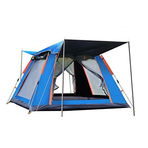 Carpa para Exteriores de Primavera Carpa de Playa de Apertura rápida Totalmente automática protección contra la Lluvia Camping con Puertas Dobles Delanteras traseras para una excursión de Barbacoa