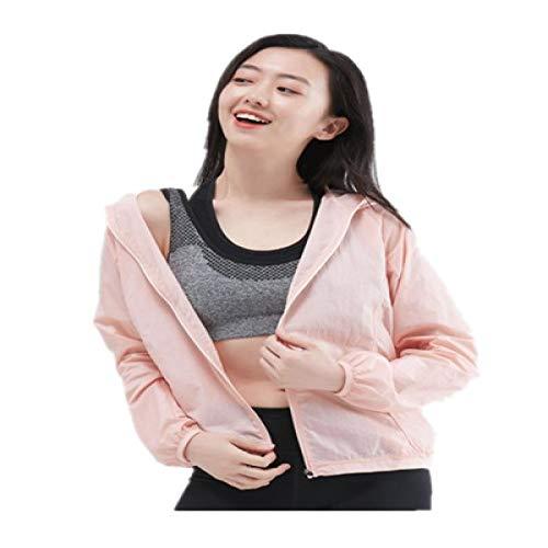 SIMEISM Beautiful Protector solar ligero para mujer con capucha, malla impermeable, transpirable, de secado rápido, protección UV