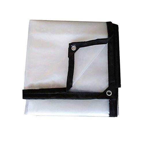Uus LHYY Bâche Transparente avec œillets Grande bâche imperméable et Isolante pour extérieur imperméable et imperméable, Polyéthylène, 5 * 6m