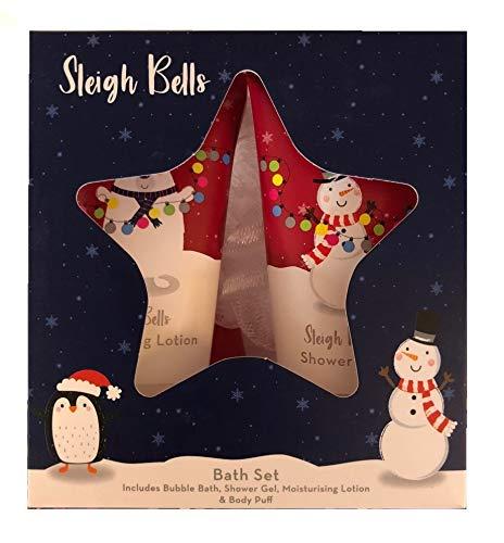 Christmas Gift Sets Sleigh Bells Ensemble de Bain de Noël et de Gel à Bulles pour Le Corps et Lotion