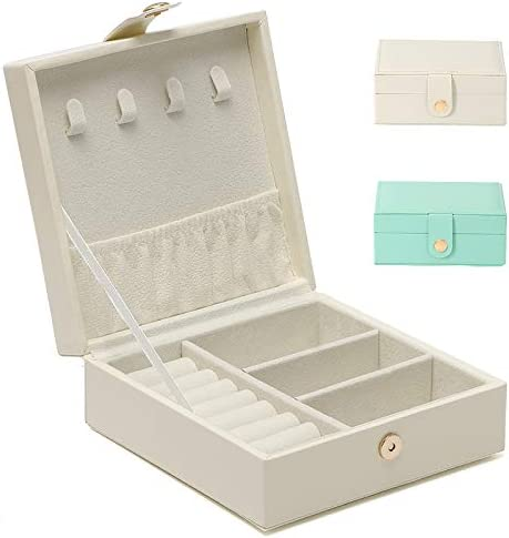 Euclidean Cube Small Jewelry Box for Women Travel Jewelry Organizer Portable Storage Earring product image