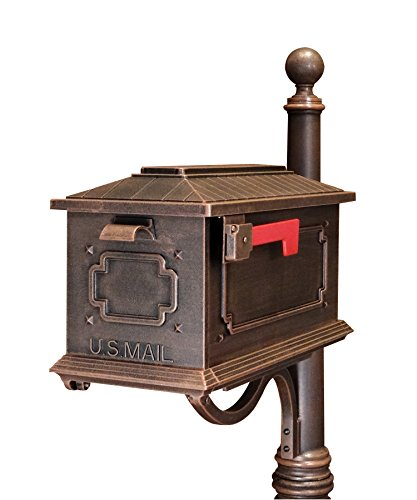 Special Lite Products SCK-1017-CP Kingston Curbside Mailbox, Copper