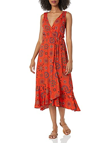 Desigual Vest_Santorini Swimwear Cover Up, Rojo, M para Mujer