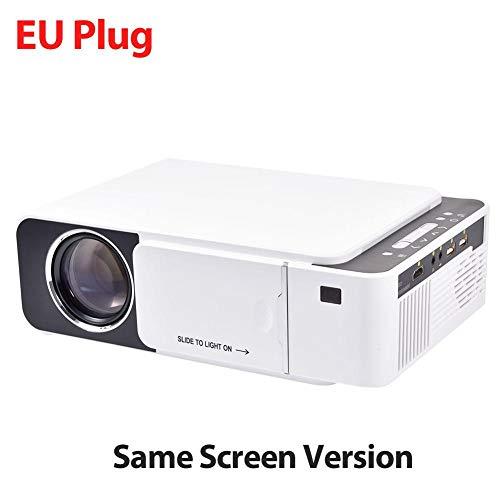 Seasons Shop Mini Beamer thuisbioscoop draagbaar LCD HD 1080P 2600 lumen beamer 4 K 3D-display ondersteunt poort HDMI IR USB AV VGA Cozy, B, zilver.