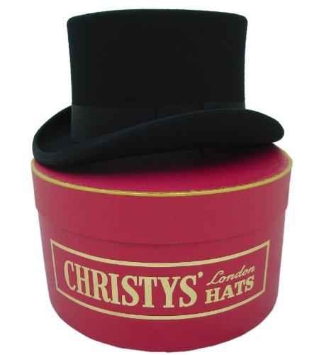 Christys of London Chapeau Haut-de-forme et Boîte Chapeau, Black, M - 57cm