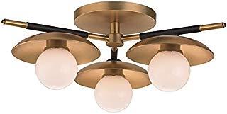 Hudson Valley Lighting 9823-AGB Julien 3 Light Semi Flush Mount, Aged Brass