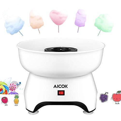 AICOK Máquina de algodón de azúcar Usar Azúcar Regular de Caramelo Duro Sin Azúcar | 500W