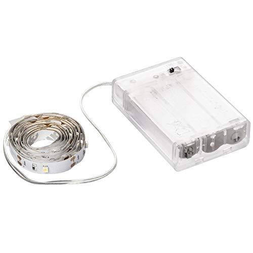 LED-Lichterband, selbstklebend, warmweiß, inkl. Timer, 30er, 1 m, 80 cm Kabelzulauf