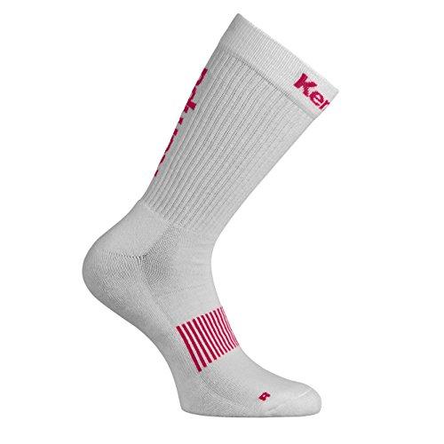 Kempa Logo Classic Herren Socken, weiß/pink, 36-40 (M)