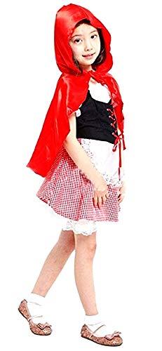 Disfraz de caperucita roja - cuentos de hadas - disfraces para nios - halloween - carnaval - color rojo - nia - talla m - 4/5 aos - idea de regalo original