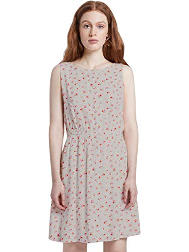 TOM TAILOR Denim Damen Blumenmuster Kleid, 21350-light Flower Print, S