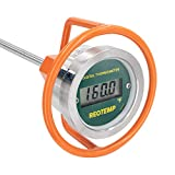 REOTEMP Heavy Duty Digital Compost Thermometer - Fahrenheit, Made in The USA (48')