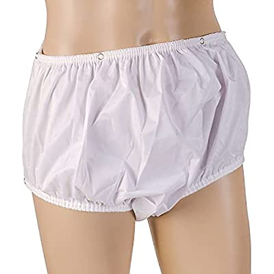 MABIS Waterproof Incontinence Underwear for Disabled, Elderly, Handicapped, Potty Training, Pregnancy or Postpartum, Snap On, Large 38-44 Inches by MABIS
