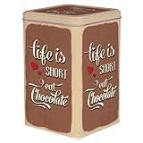 Blechdose für Allerlei 17,5cm x 11,3cm x 11,3cm (Life is Short)