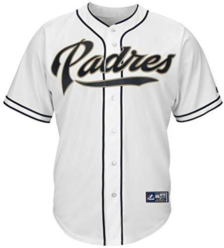 Majestic San Diego Padres Home White Replica Baseball Jersey Big & Tall Sizes (4XL)