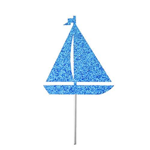 CICIDI Segelboot Tortenaufsatz Segelboot Geburtstag Dekor Segelboot Topper Anker Anker Ausweg Nautische Brautdusche Baby Dusche Kuchen Dekoration