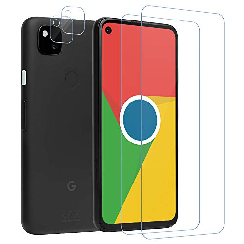 Bodyguard Panzerglas schutzfolie für Google Pixel 4A +Kamera Panzerglas, [2 Stück] [9H Härte] [HD Clear] [Sensitive Touch], [Anti-Kratzen] [Anti Fingerabdruck] folie für Google Pixel 4A (4G)