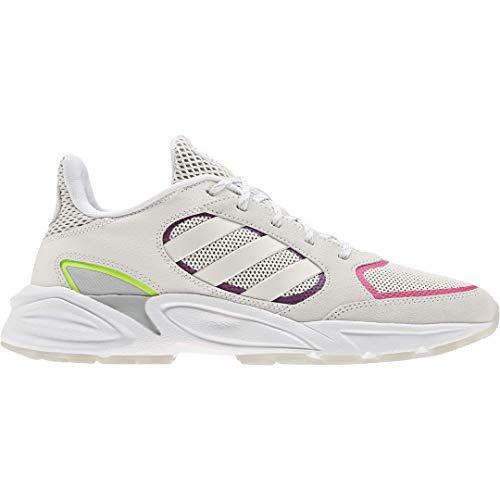 adidas Women's 90s Valasion Running Shoe, Cloud White/Cloud White/Grey Six, 8.5