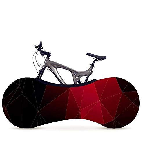 XINTUON Bolsa de almacenamiento para bicicleta 26 29 pulgadas cubierta de bicicleta línea geométrica serie color interior proteger la bicicleta fácil de empacar