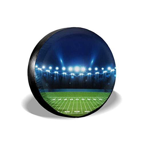 LYMT American Football Arena Field Bright Stadium Beste Band Cover Beste Band Cover Band Cover Fit voor Trailer Rv SUV en Veel Voertuig 14-17inch