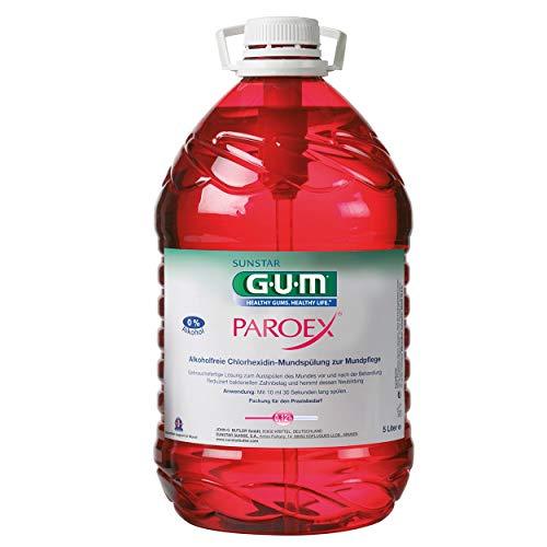 GUM Paroex Mundspülung 0,12{fab2daebb99dfc27132b1f5aad5cbdab1a9aeed5f64113f4984fdc5f7975f4d4} 5 Liter Vorratsflasche (ohne Pumpe)