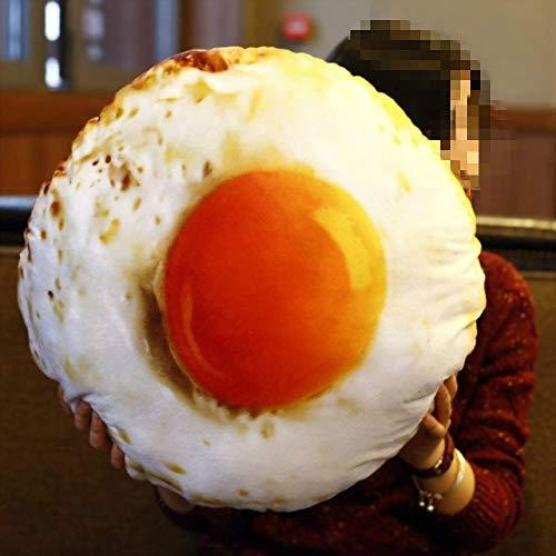 Chendunchishi Conductor del Coche Almohada para el Cuello Huevo Frito Emoticon cojín del Asiento de