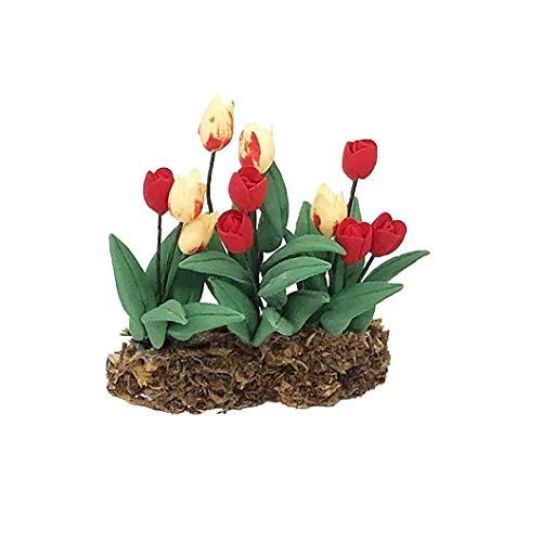 xiaocheng Miniatura Flores Hechas a Mano Tiny Bonsai Artificial Mini Plantas Verdes Hada del jardín Accesorio para Dollhouse Green Home Accesorios Vida