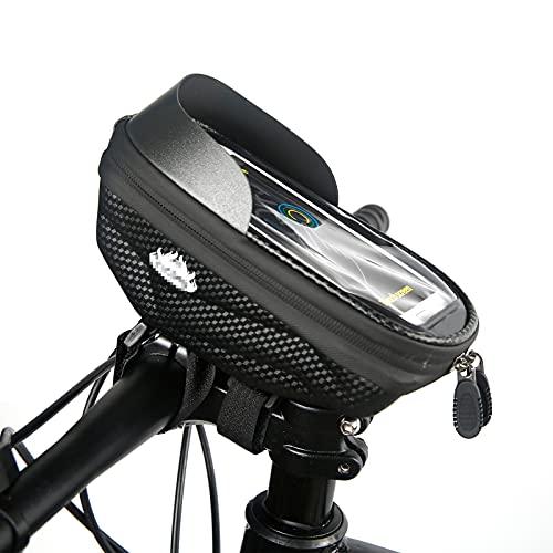 GRAFTS - Bolsa de marco para bicicleta o bicicleta de montaña impermeable, con pantalla táctil y soporte para teléfono móvil de hasta 6,5 pulgadas
