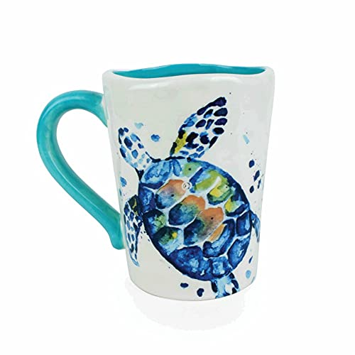 unison gifts DHH-769 SEA Turtle 16 Ounce Mug, 1 Count (Pack of 1), Multicolor