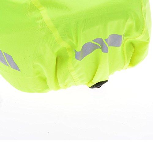 Filmer 46.850 Regenschutz Helm / Überzug für Fahrradhelm / Reithelm etc. – neongelb – reflektierend - 2