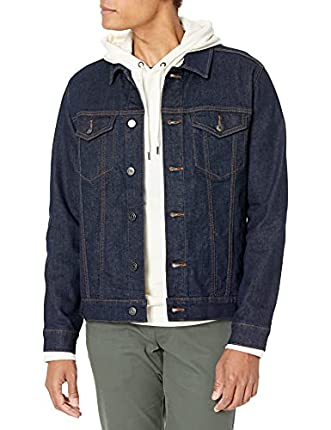 Amazon Essentials Denim Trucker Jacket Jackets, Rinsed Wash, US (EU XS)