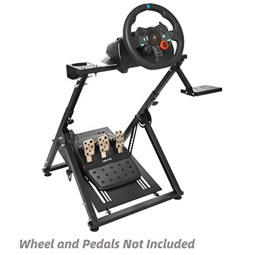 Marada Racing Wheel Stand 'X' FRAME Racing Simulator Steering Wheel Stand Foldable & Tilt-Adjustable for G29 G920 T300RS T150 PS4 Xbox Wheel Pedals NOT Included