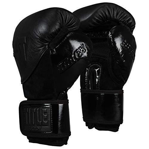 TITLE BLACK Blitz Sparring Gloves, Black, 16 oz