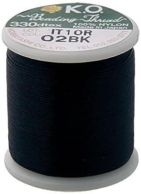 K.O. Japanese Nylon Beading Thread for Delica Beads, 50m, Black