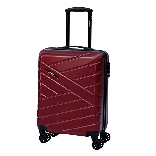 Skyflite Vanquish 802 55cm 8-Wheel Red ABS Hardshell Cabin Suitcase