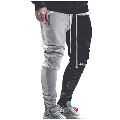 serliy😛Männer Casual Slim Fit Elastische Kordelzug Lange Trackpants Jogger Hose Jogginghose Trainingshose mit Taschen