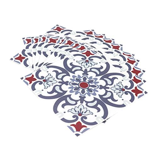10 Piezas Pegatinas para Azulejos, Adhesivo Impermeable para Azulejos, Calcomanía de Pared Autoadhesiva Antideslizante para Baño, Cocina, Sala de Estar, Decoración del Hogar, 3.9 x 3.9 in(23)