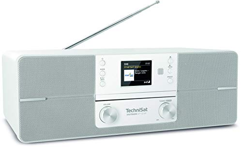 TechniSat DIGITRADIO 371 CD BT - Stereo Digitalradio (DAB+, UKW, CD-Player, Bluetooth, Farbdisplay, USB, AUX, Kopfhöreranschluss, Wecker, 10 Watt, Fernbedienung) weiß