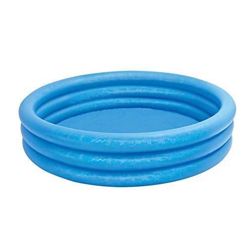 NXYJDe Tres Capas Ronda niños bañera Inflable, Piscina Inflable jacuzzis bañeras inflado tinas con Bomba de Aire for inflar con Aire Plegable Durable