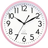 DreamSky 10 Inches Wall Clocks Battery Operated - Silent...