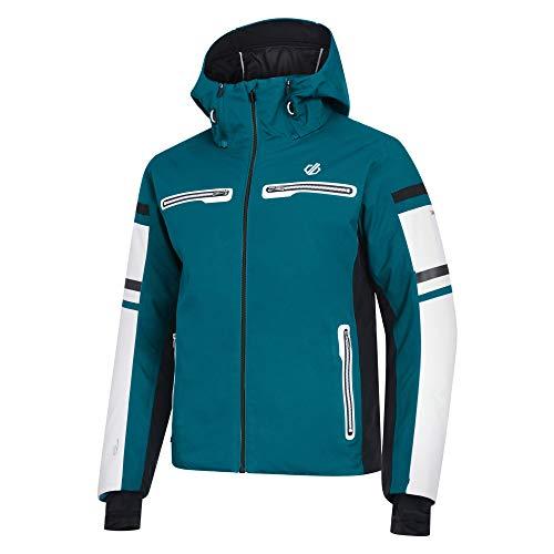 Dare 2b Herren Outshout Black Label Waterproof & Breathable High Loft Insulated & Mesh Lined Ski Snowboard Jacket with Snow Skirt and AEP Kinematics wasserdichte, isolierte Jacken, Ocean Depths, XL