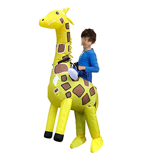 BSLBBZY Kids Yellow Giraffe Inflatable Costume Role Play Party Performance Clothes Children Christmas Popular Inflatable Clothing (Color : 1143)