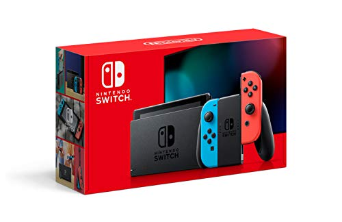 Product Image of the Nintendo Switch with Neon Blue and Neon Red Joy‑Con - HAC-001(-01)
