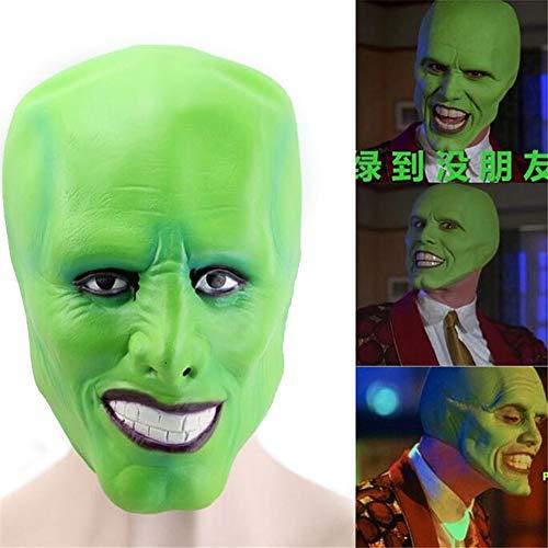 Halloweenkostüm Jim Carrey Maske, Cosplay Kostüme Ball Karneval Party Requisiten Terror Latexhauben Zum Maskerade Parteien, Karneval, Geschenke, 2PCS