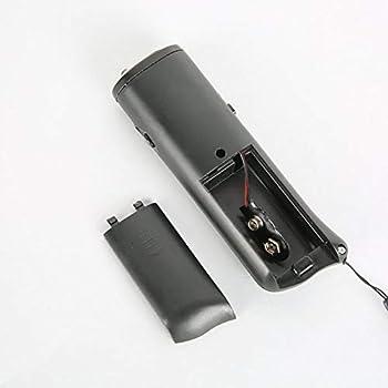 Yxaomite LED à Ultrasons Répulsif pour Chien Répulsif à Trainer pour Animaux Chien éducation électrique 3 en 1 - Noir