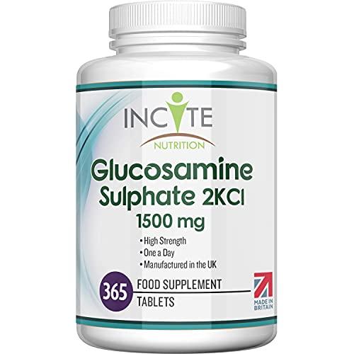 Incite Nutrition Glucosamina Solfato 1500 2KCL Compresse, per 1 Anno
