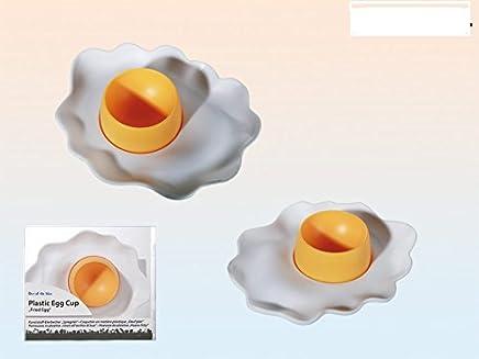 Preisvergleich für 4 x Eierbecher aus Kuststoff Modell Spiegelei,Größe ca.14 cm