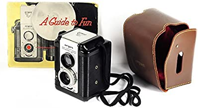 Argus Super Seventy-Five 75 TLR 1950s Antique 620 Film Camera with Manual and Leather Case